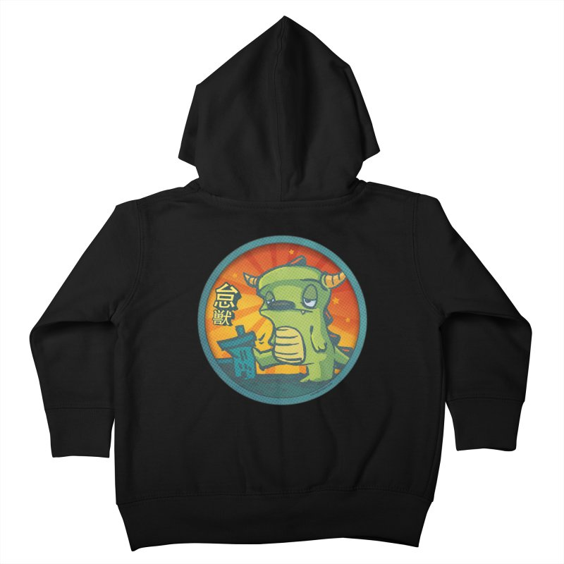 Lazy Kaiju. I'm done for the day. Kids Toddler Zip-Up Hoody by stumpytown