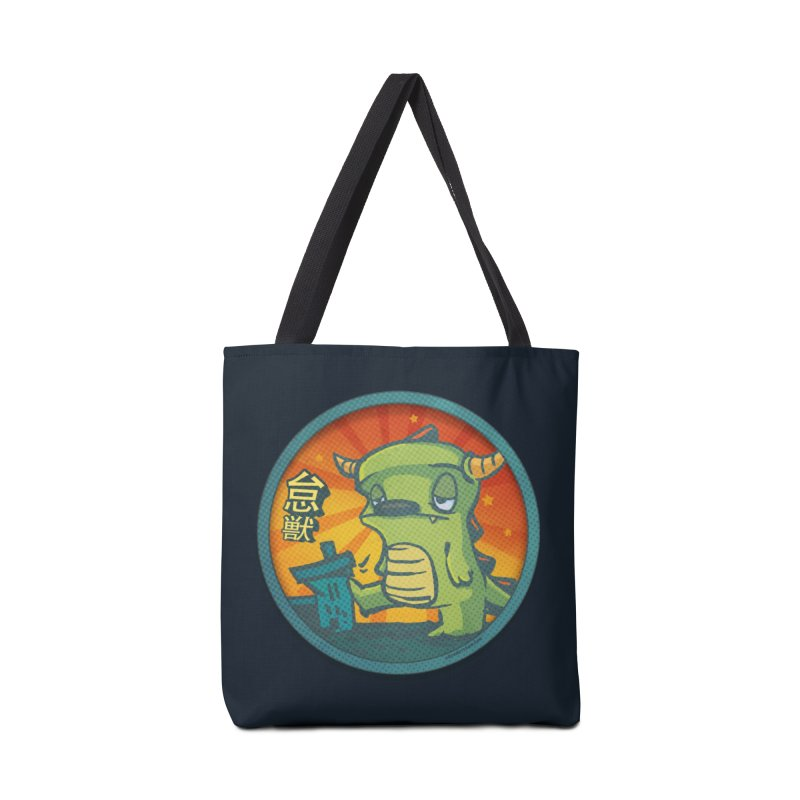 Lazy Kaiju. I'm done for the day. Accessories Tote Bag Bag by stumpytown