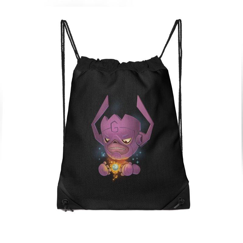 Devourer Accessories Drawstring Bag Bag by stumpytown