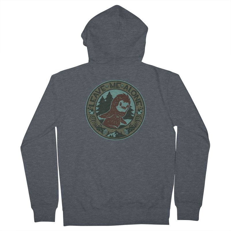 Leave Me Alone Men's French Terry Zip-Up Hoody by stumpytown