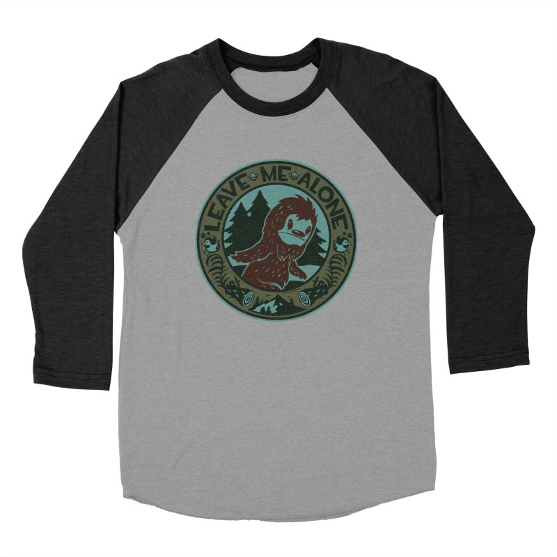 Leave Me Alone Men's Baseball Triblend Longsleeve T-Shirt by stumpytown