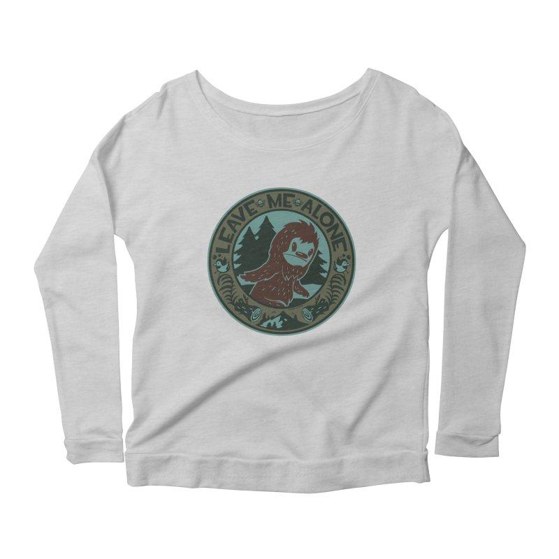 Leave Me Alone Women's Scoop Neck Longsleeve T-Shirt by stumpytown