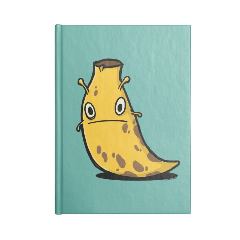 Overripe Banana Slug Accessories Lined Journal Notebook by stumpytown