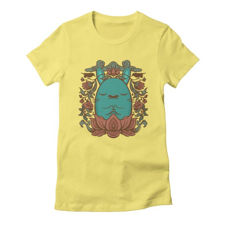 Namaste Women's Fitted T-Shirt by stumpytown
