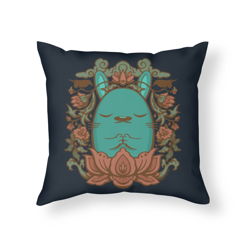 Namaste Home Throw Pillow by stumpytown