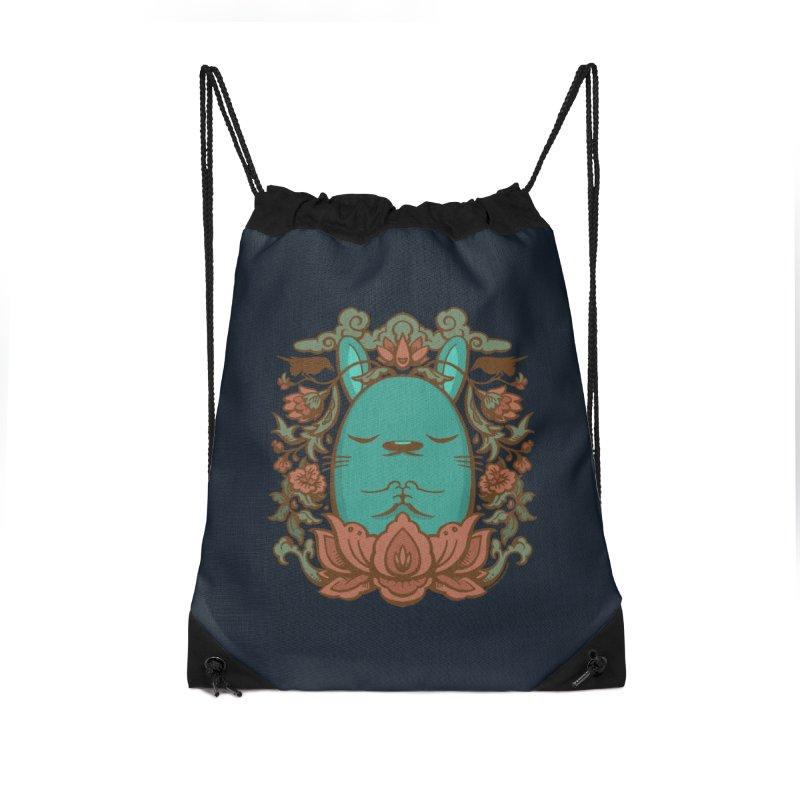 Namaste Accessories Drawstring Bag Bag by stumpytown