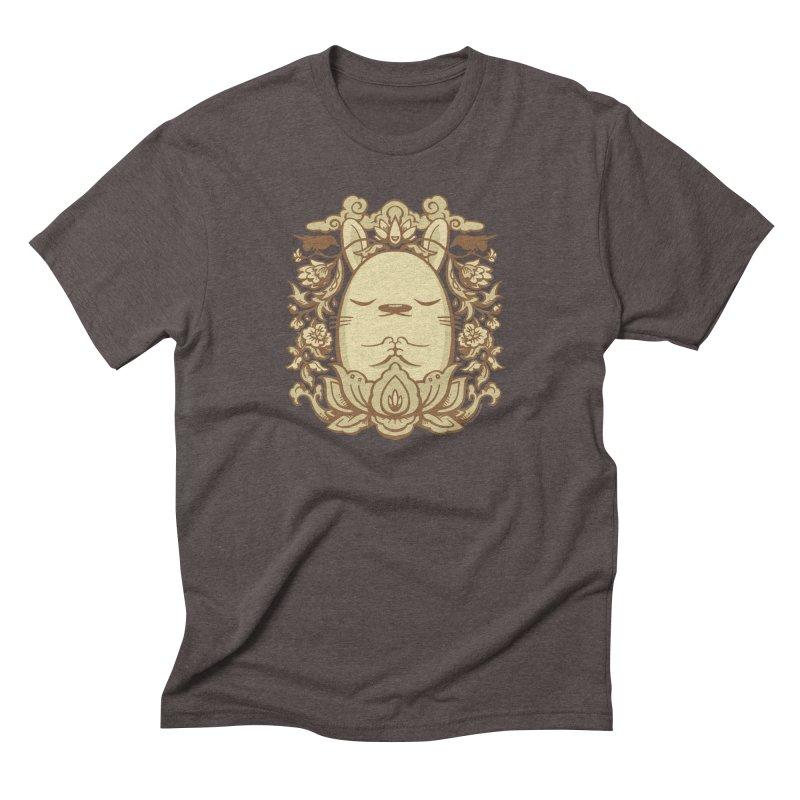 Namaste 2 in Men's Triblend T-Shirt Tri-Coffee by stumpytown