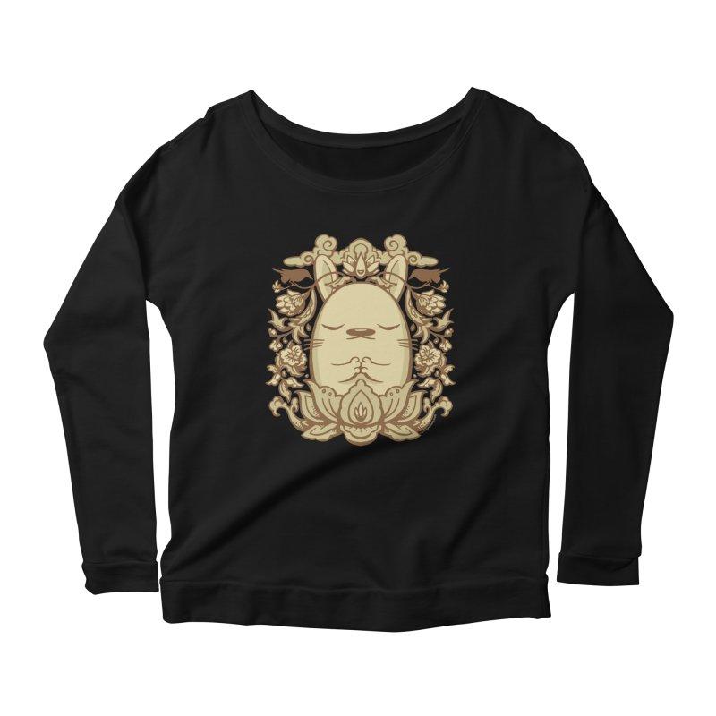 Namaste 2 Women's Scoop Neck Longsleeve T-Shirt by stumpytown