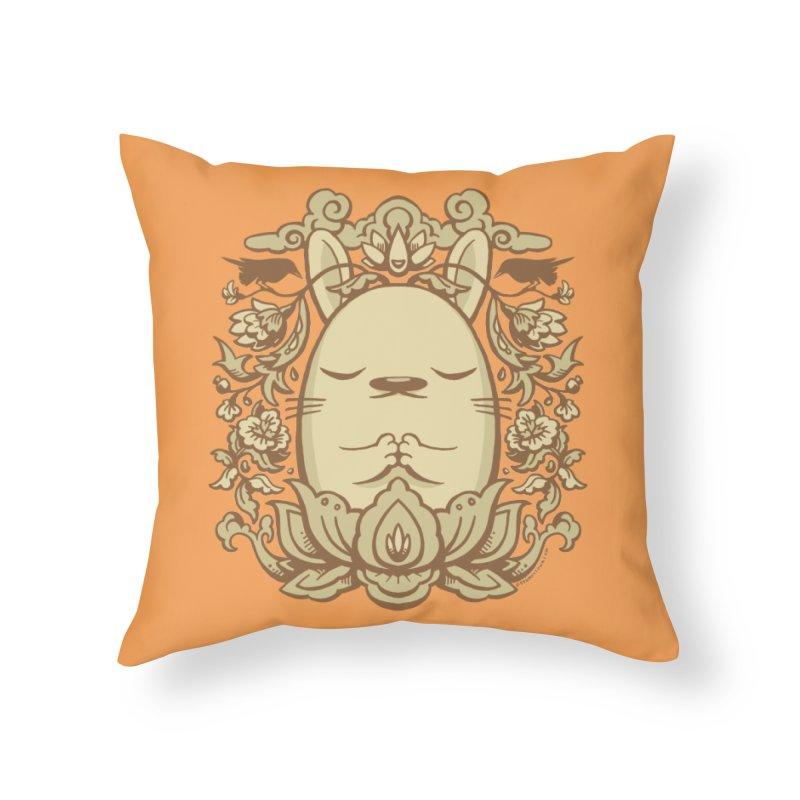 Namaste 2 Home Throw Pillow by stumpytown