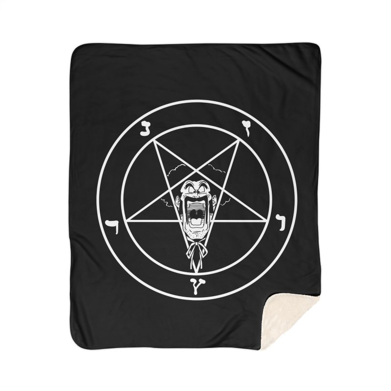 Hail Mr. Satan Home Sherpa Blanket Blanket by itty biity shitties