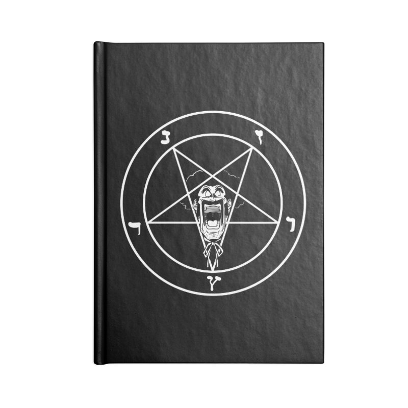 Hail Mr. Satan Accessories Lined Journal Notebook by itty biity shitties