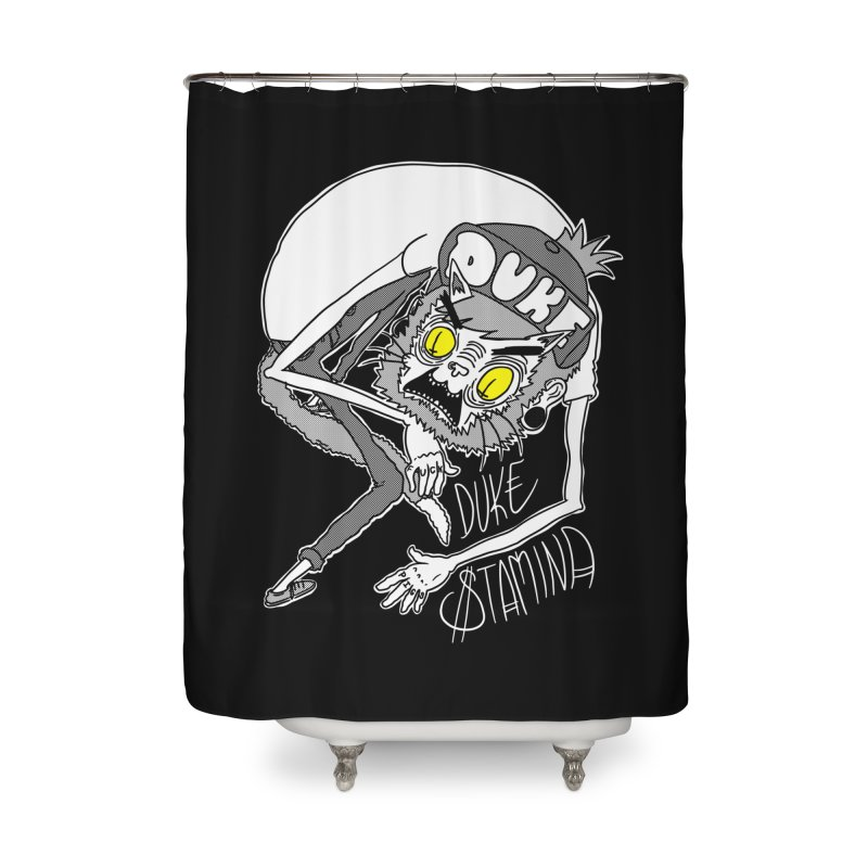 Aggro-Cat Home Shower Curtain by itty biity shitties