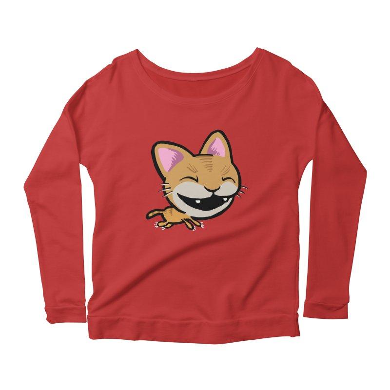 Kittastrophe Women's Scoop Neck Longsleeve T-Shirt by STWALLSKULL's Shirt Shack
