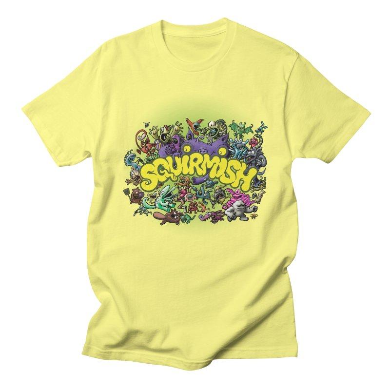 SQUIRMISH Card Back Men's T-Shirt by STWALLSKULL's Shirt Shack