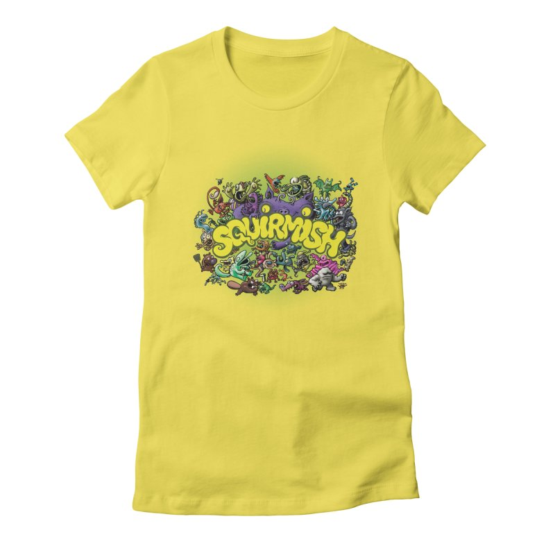 SQUIRMISH Card Back Women's T-Shirt by STWALLSKULL's Shirt Shack