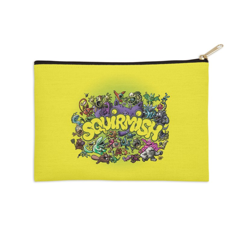 SQUIRMISH Card Back Accessories Zip Pouch by STWALLSKULL's Shirt Shack