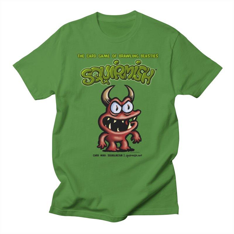 Squirmish | Card #80: Zeebelbezub Men's T-Shirt by STWALLSKULL's Shirt Shack