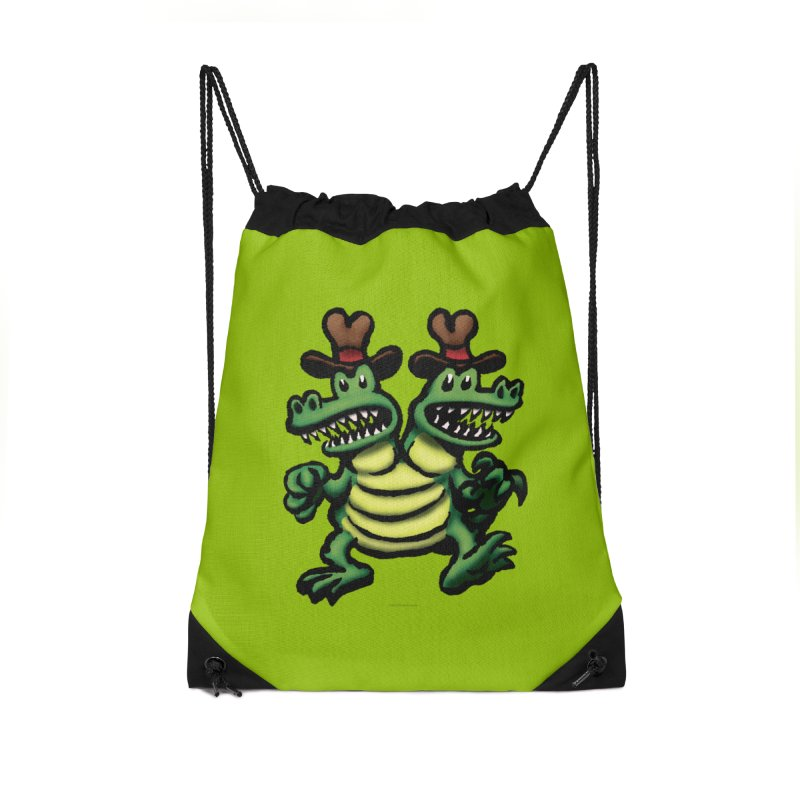 Squirmish Card A33: FLIP & FLOP Accessories Drawstring Bag Bag by STWALLSKULL's Shirt Shack