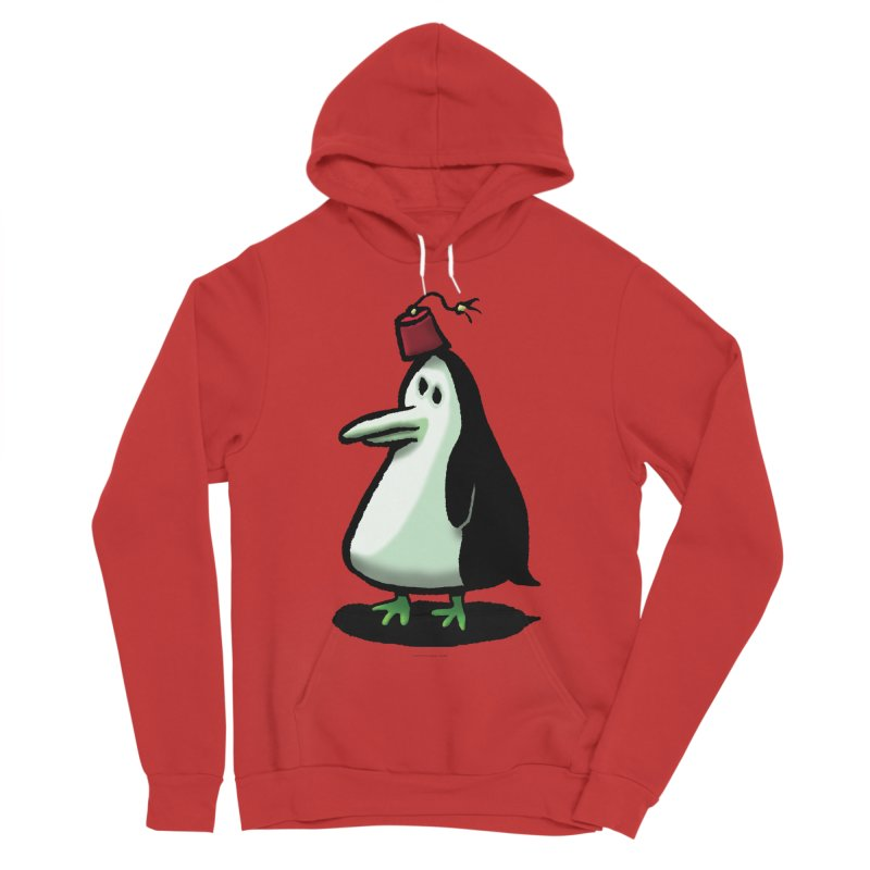 Squirmish Card A44: MASTER PENGU Women's Sponge Fleece Pullover Hoody by STWALLSKULL's Shirt Shack