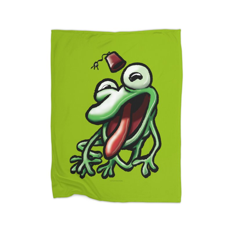 Squirmish Card A45: MASTER TONGU Home Blanket by STWALLSKULL's Shirt Shack