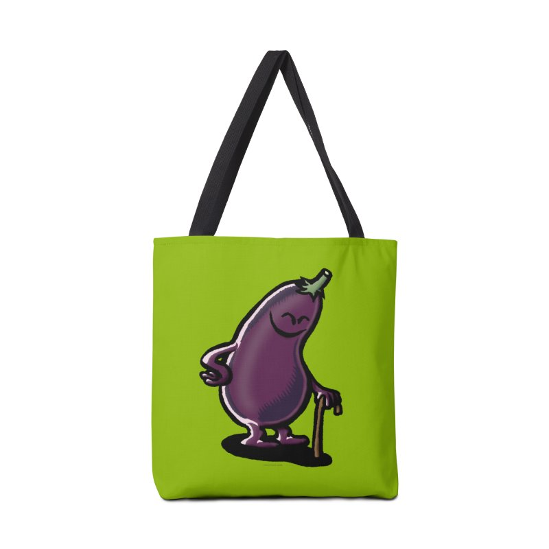 Squirmish Card A56: OLD MAN EGGPLANT Accessories Tote Bag Bag by STWALLSKULL's Shirt Shack