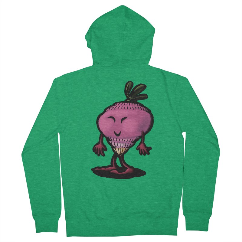Squirmish Card A58: MISS TURNIP Men's French Terry Zip-Up Hoody by STWALLSKULL's Shirt Shack