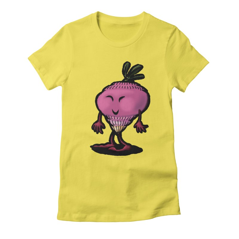 Squirmish Card A58: MISS TURNIP Women's Fitted T-Shirt by STWALLSKULL's Shirt Shack