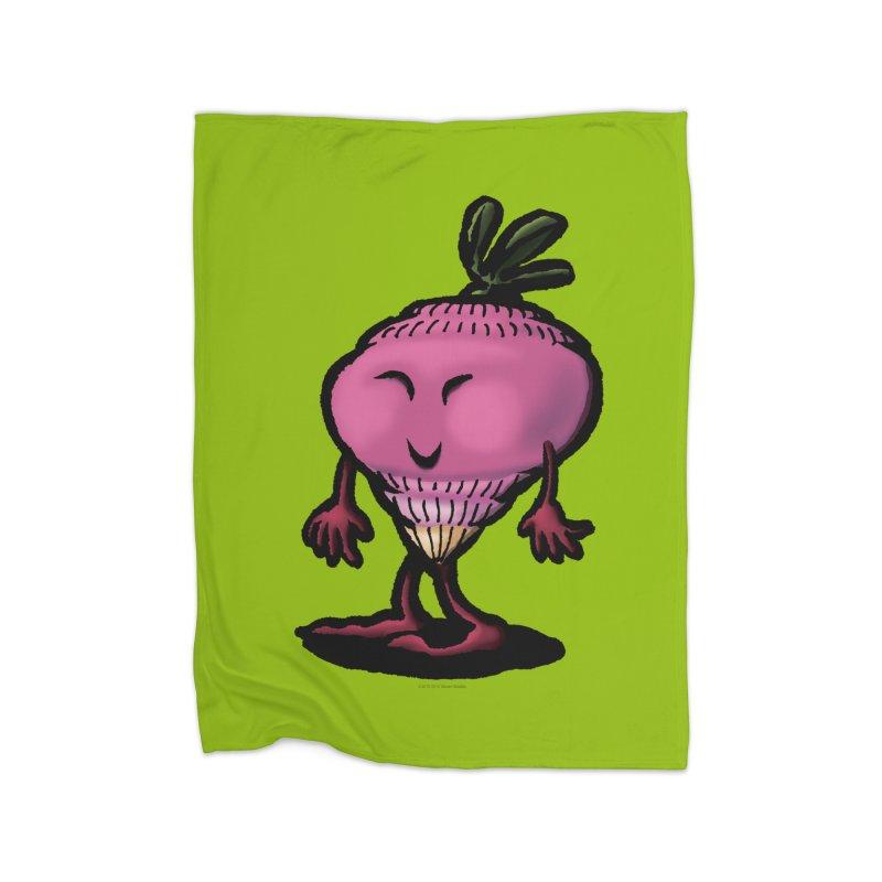 Squirmish Card A58: MISS TURNIP Home Fleece Blanket Blanket by STWALLSKULL's Shirt Shack
