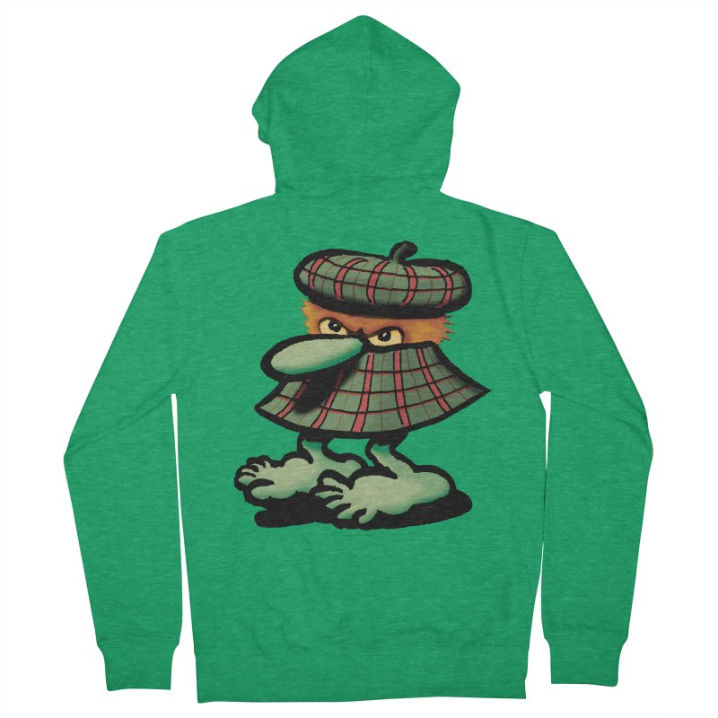 Squirmish Card A61: QUAZSCOTCH Men's French Terry Zip-Up Hoody by STWALLSKULL's Shirt Shack