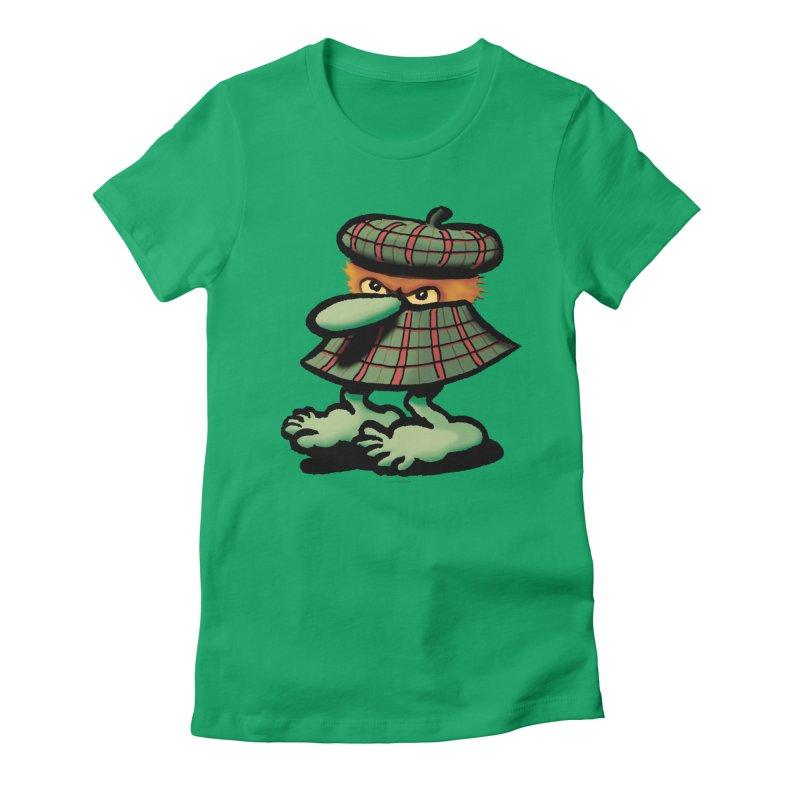 Squirmish Card A61: QUAZSCOTCH Women's Fitted T-Shirt by STWALLSKULL's Shirt Shack
