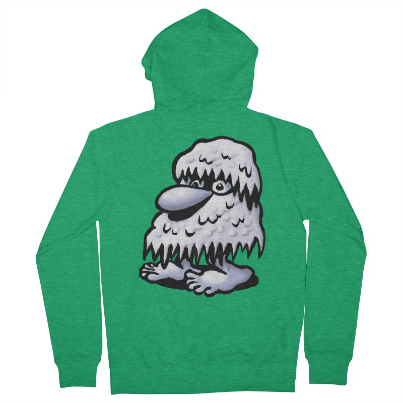 Squirmish Card A62: THE SNOWBOMBNIBLE OMEN Men's French Terry Zip-Up Hoody by STWALLSKULL's Shirt Shack