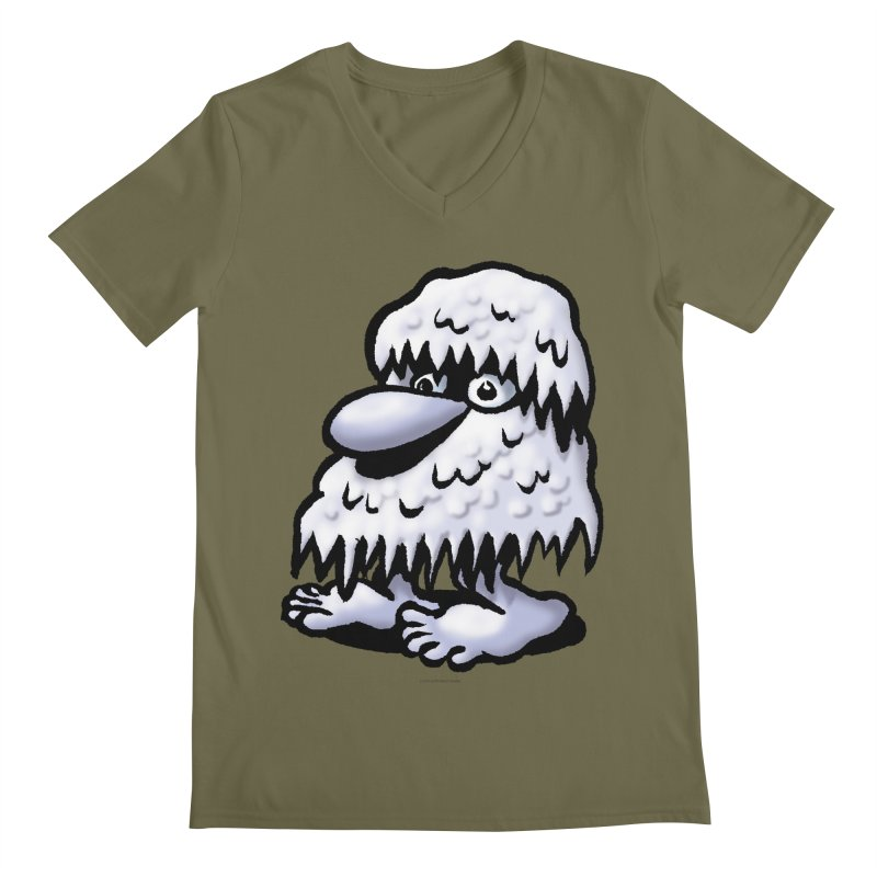 Squirmish Card A62: THE SNOWBOMBNIBLE OMEN Men's Regular V-Neck by STWALLSKULL's Shirt Shack