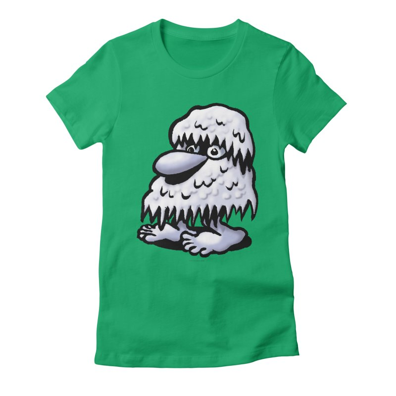 Squirmish Card A62: THE SNOWBOMBNIBLE OMEN Women's Fitted T-Shirt by STWALLSKULL's Shirt Shack