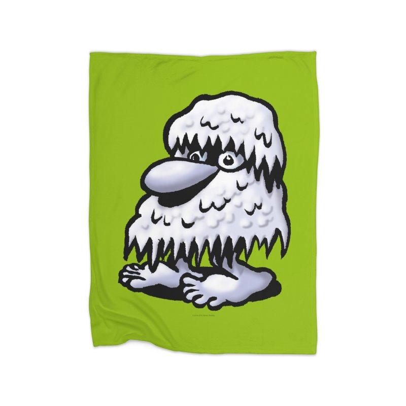 Squirmish Card A62: THE SNOWBOMBNIBLE OMEN Home Fleece Blanket Blanket by STWALLSKULL's Shirt Shack