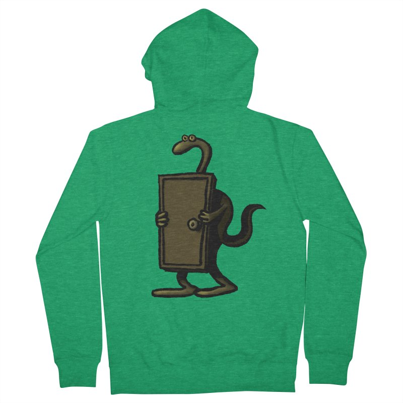 Squirmish Card A63: THE KNOCKLESS MONSTER Men's French Terry Zip-Up Hoody by STWALLSKULL's Shirt Shack