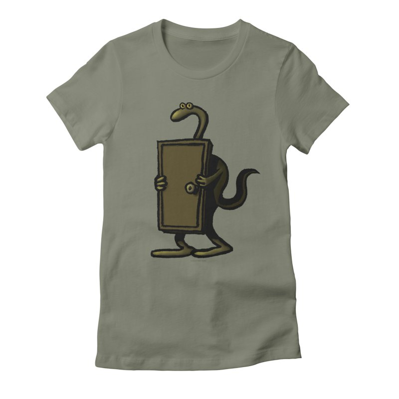 Squirmish Card A63: THE KNOCKLESS MONSTER Women's Fitted T-Shirt by STWALLSKULL's Shirt Shack