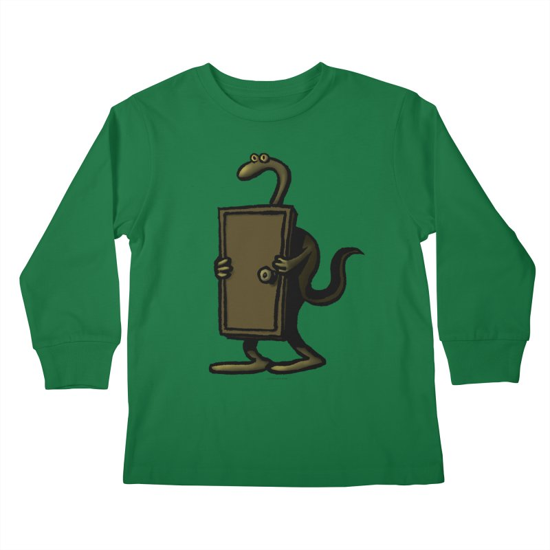 Squirmish Card A63: THE KNOCKLESS MONSTER Kids Longsleeve T-Shirt by STWALLSKULL's Shirt Shack