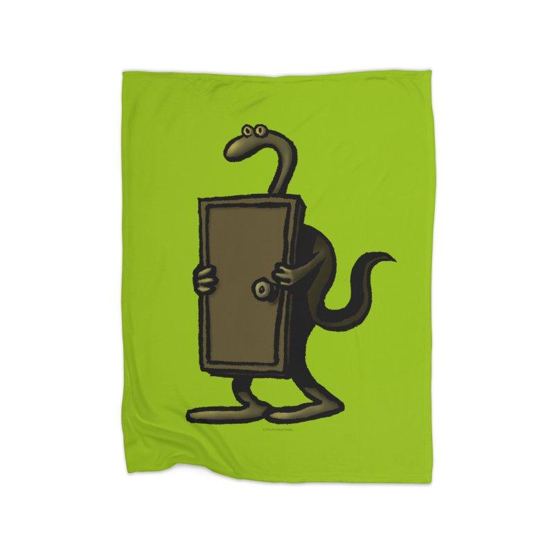 Squirmish Card A63: THE KNOCKLESS MONSTER Home Fleece Blanket Blanket by STWALLSKULL's Shirt Shack