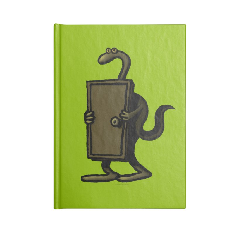 Squirmish Card A63: THE KNOCKLESS MONSTER Accessories Blank Journal Notebook by STWALLSKULL's Shirt Shack