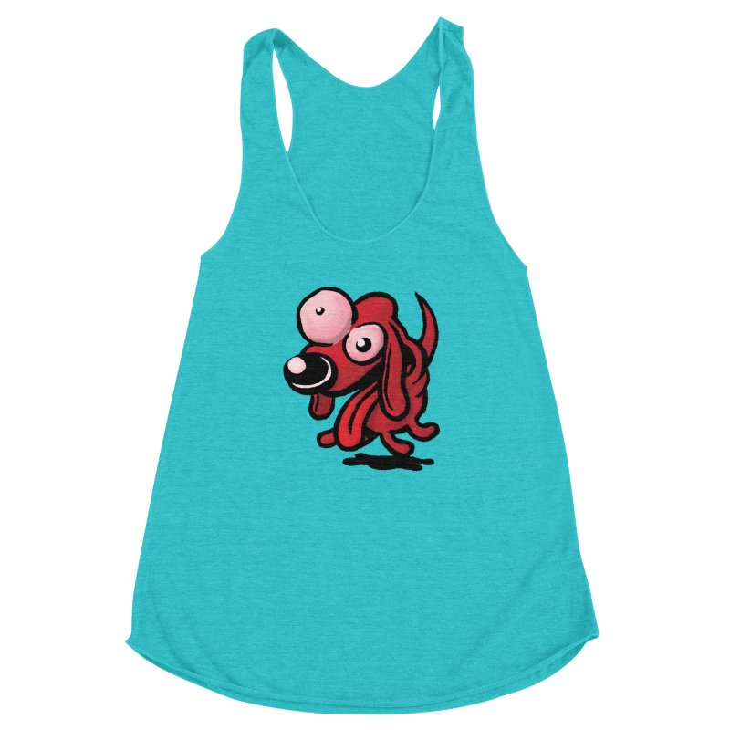 Squirmish Card A64: EXCITOPUP Women's Racerback Triblend Tank by STWALLSKULL's Shirt Shack