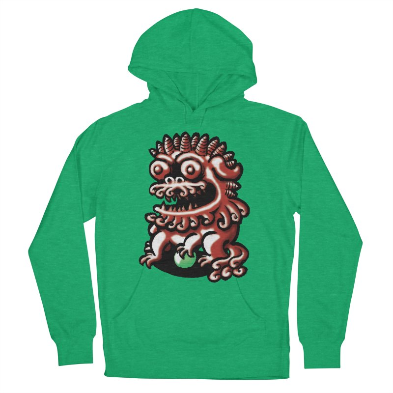 Squirmish Card A66: FOO DOG Men's Pullover Hoody by STWALLSKULL's Shirt Shack