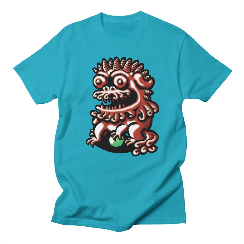 Squirmish Card A66: FOO DOG Men's T-Shirt by STWALLSKULL's Shirt Shack