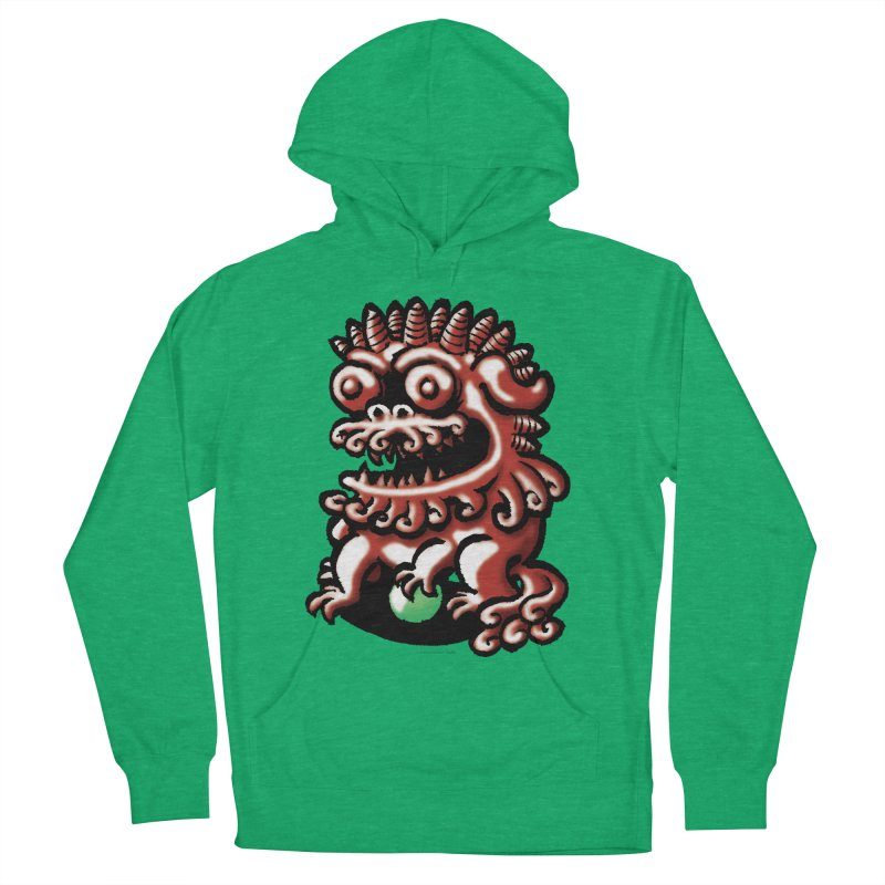 Squirmish Card A66: FOO DOG Men's French Terry Pullover Hoody by STWALLSKULL's Shirt Shack