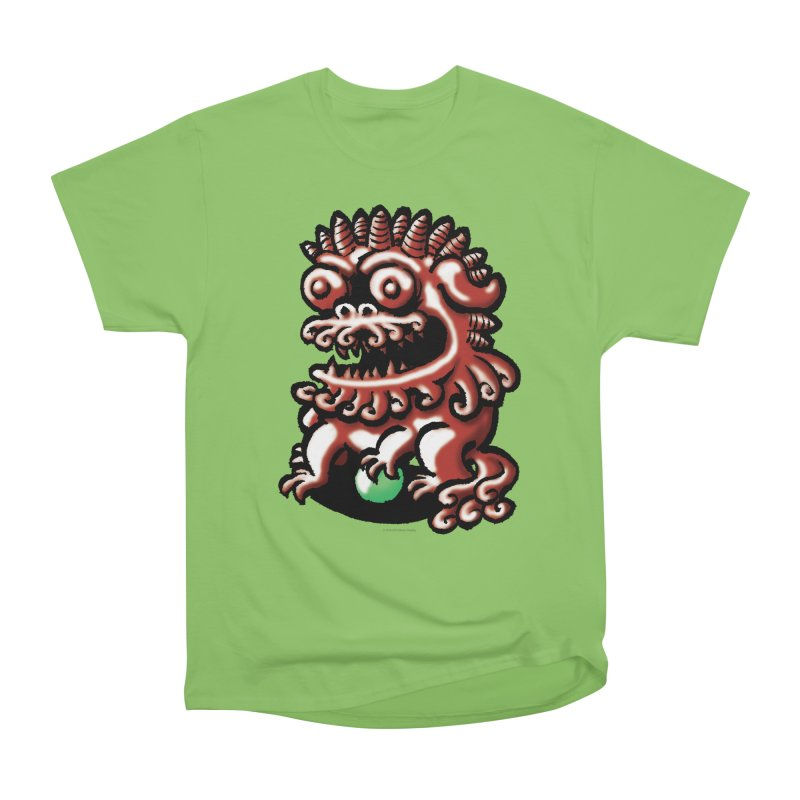 Squirmish Card A66: FOO DOG Men's Heavyweight T-Shirt by STWALLSKULL's Shirt Shack