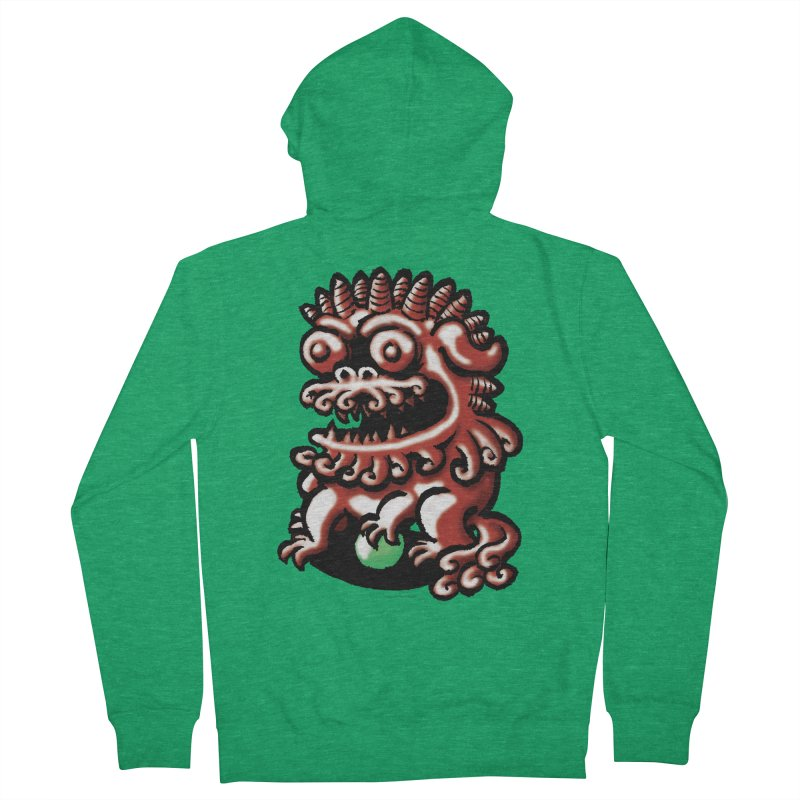 Squirmish Card A66: FOO DOG Men's French Terry Zip-Up Hoody by STWALLSKULL's Shirt Shack