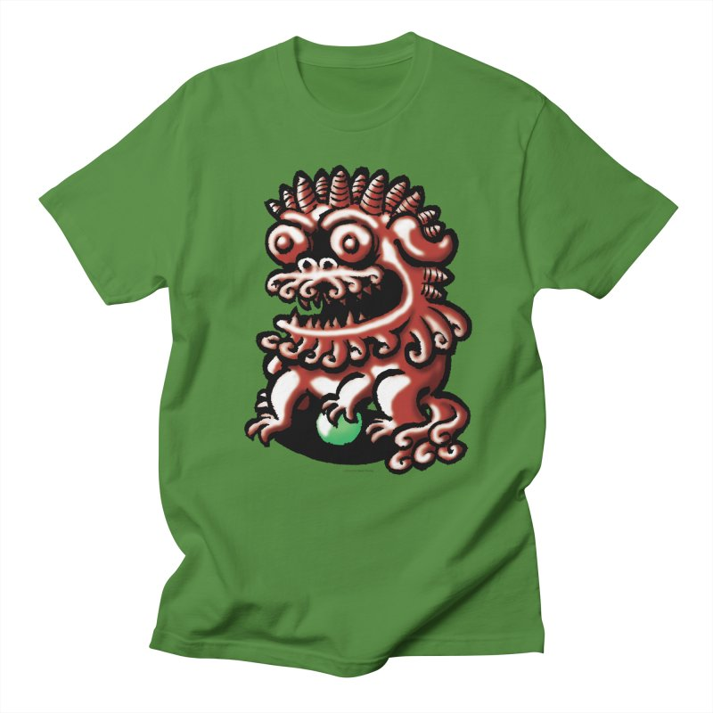 Squirmish Card A66: FOO DOG Women's Regular Unisex T-Shirt by STWALLSKULL's Shirt Shack