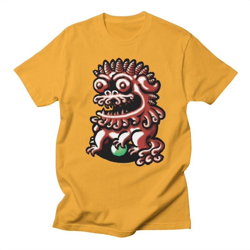 Squirmish Card A66: FOO DOG Men's Regular T-Shirt by STWALLSKULL's Shirt Shack