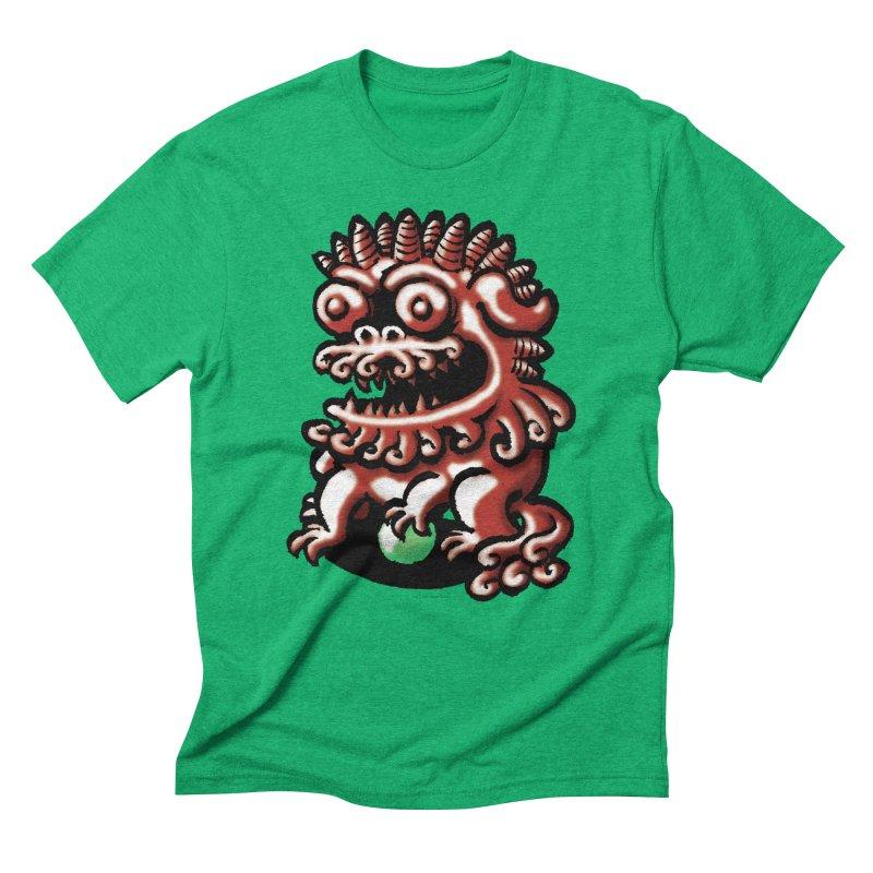 Squirmish Card A66: FOO DOG Men's Triblend T-Shirt by STWALLSKULL's Shirt Shack