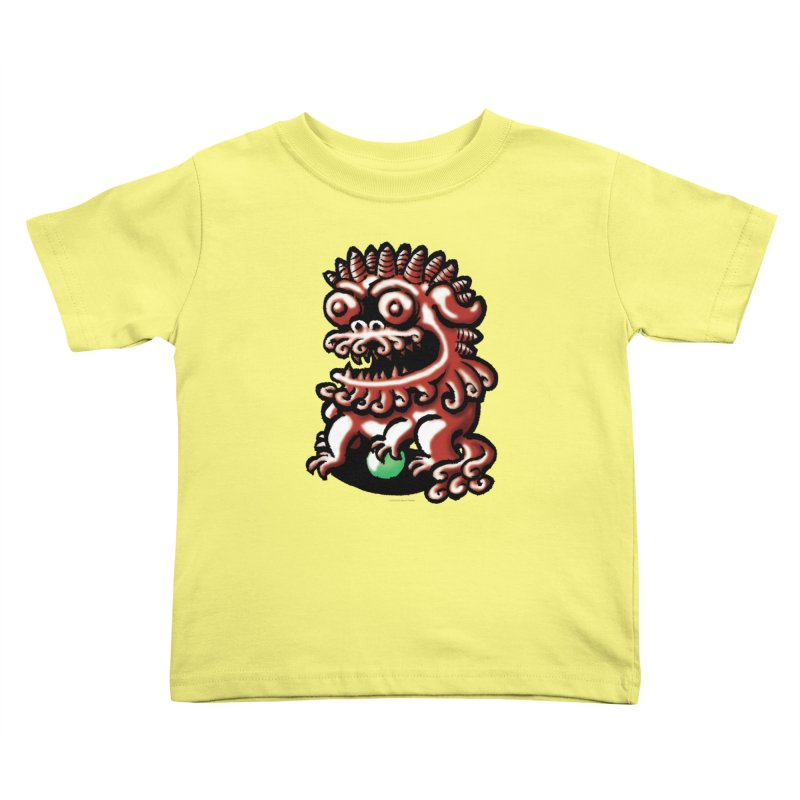 Squirmish Card A66: FOO DOG Kids Toddler T-Shirt by STWALLSKULL's Shirt Shack
