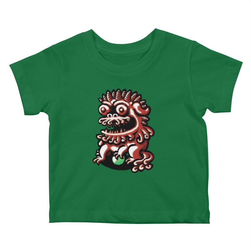 Squirmish Card A66: FOO DOG Kids Baby T-Shirt by STWALLSKULL's Shirt Shack